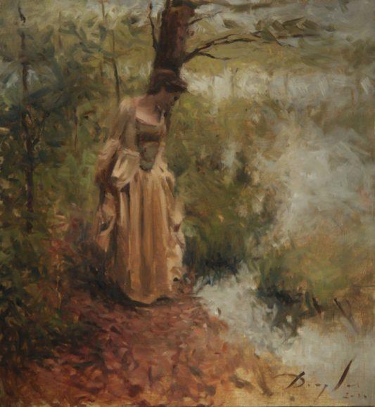 Woman in a Rococo Dress