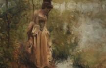 Women in a rococo dress