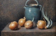 Still Life- Onion and Pot