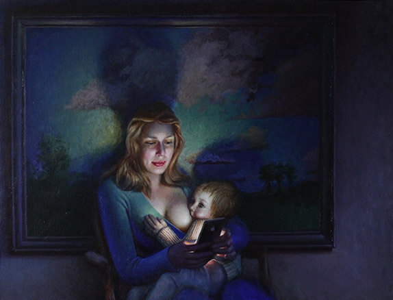Breastfeeding-women-painting-Oil-on-linen-80-100-cm-2019 -Daniel-Douglas