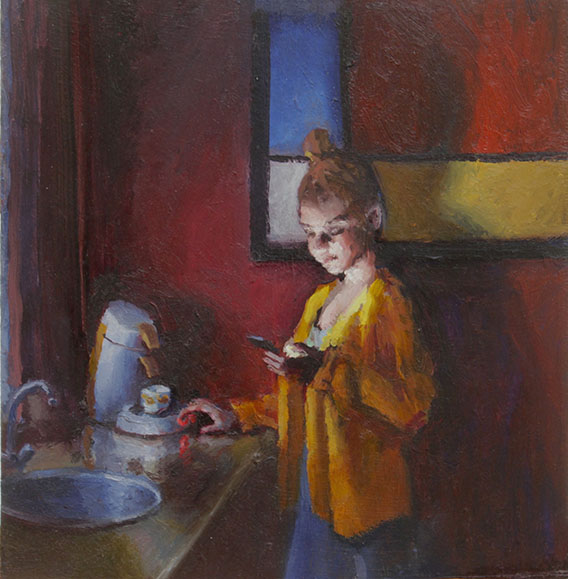 hollandse koffie oil painting