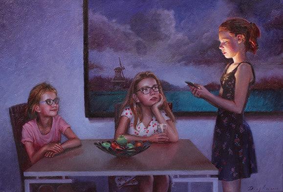 De voordracht oil on Canvas Daniel Douglas