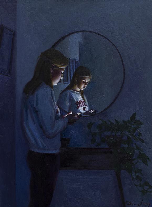 Mirror oil painting Daniel Douglas