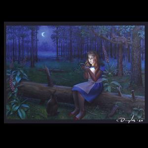 Alice in Wonderlight signed-a4-poster by Daniel Douglas