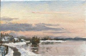IJssel winterlandschap